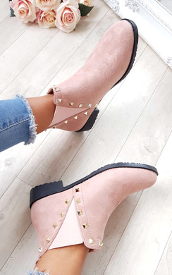 View the Keir Studded Chelsea Faux Suede Ankle Boots online at iKrush