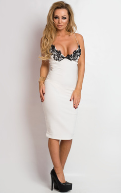 View the Dillon Lace Bodycon Dress online at iKrush