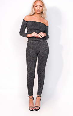 View the Anna Glitter Bandage Leggings online at iKrush