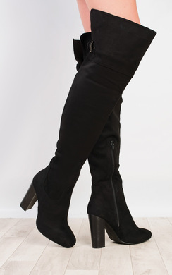 View the Kelsie Buckled Knee High Boots online at iKrush