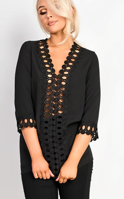 View the Jayla Crochet Embroidered Blouse online at iKrush