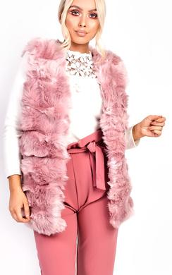 View the Melanie Faux Fur Waistcoat online at iKrush