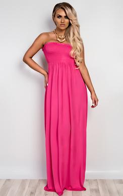 View the Sabrina Ruched Maxi Dress online at iKrush