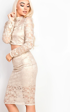 View the Valery Metallic Lace Co-ord online at iKrush