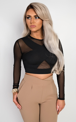 View the Keira Mesh Crop Top online at iKrush