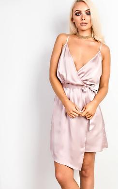 View the Poppy Asymmetric Satin Dress online at iKrush