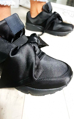 View the Selise Satin Bow Trainers online at iKrush