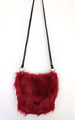 View the Ava Faux Fur Shoulder Bag online at iKrush