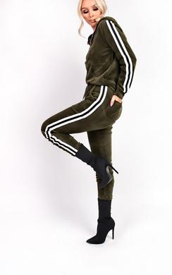 View the Kourt Stripe Velour Tracksuit online at iKrush