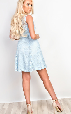 View the Asher Lace Sequin Skater Dress online at iKrush