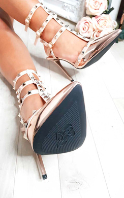 View the Milana Multi Strap T-Bar Studded Court Heels online at iKrush
