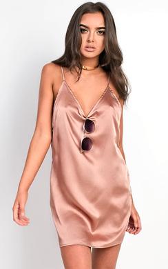 View the Shya Satin Slip Dress online at iKrush