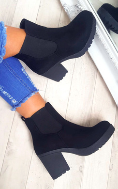 View the Delis Chunky Ankle Boots online at iKrush