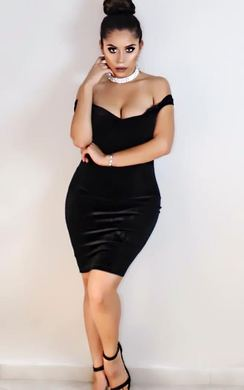 View the Monique Velour Off Shoulder Bodycon Dress online at iKrush