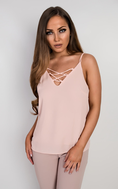 View the Ally Chiffon Vest Top online at iKrush