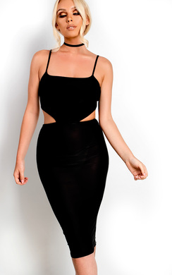View the Ajtar Slinky Cut out Dress online at iKrush