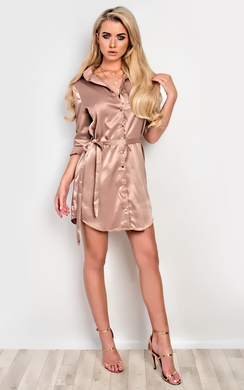 View the Sadey Satin Shift Dress online at iKrush