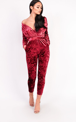 View the Kye Velvet Plunge Fitted Jumpsuit online at iKrush