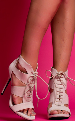 View the Genevieve Peep Toe Stiletto Heels online at iKrush