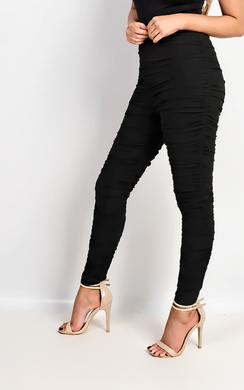 View the Kimmie Mesh Ruched Leggings online at iKrush