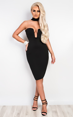 View the Elisia Choker Neck Bodycon Dress online at iKrush