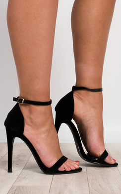View the Orna Faux Suede Stiletto Heels online at iKrush