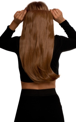 View the Intense Volume Clip In Hair Extensions - Flicky Auburn online at iKrush