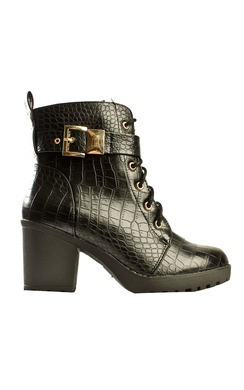 View the Ollie Platform Lace Up Boots online at iKrush
