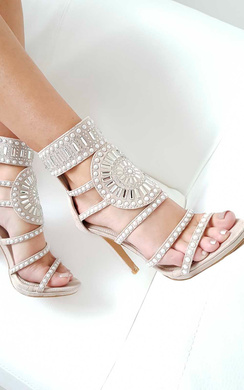View the Kimberly Diamante Studded Heels online at iKrush