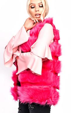 View the Perri Faux Fur Waistcoat online at iKrush