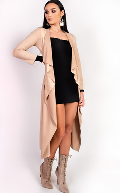 View the Anna Suede Waterfall Coat online at iKrush