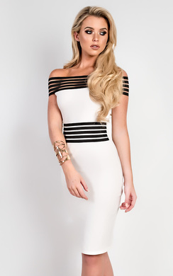 View the Ivette Stripe Detail Midi Dress online at iKrush