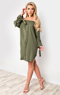 View the Kye Off Shoulder Shirt Dress online at iKrush