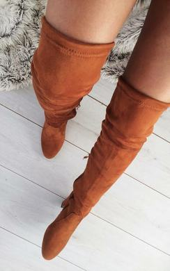 View the Avril Faux Suede Knee High Boots online at iKrush