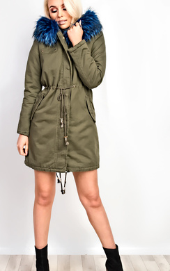 View the Samantha Faux Fur Parka Jacket online at iKrush