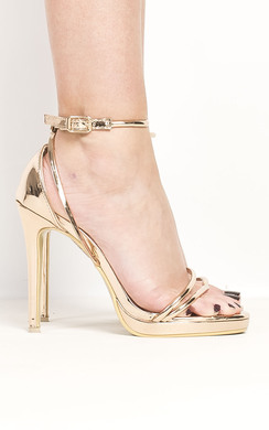 View the Talitha Chrome Strappy High Heels  online at iKrush