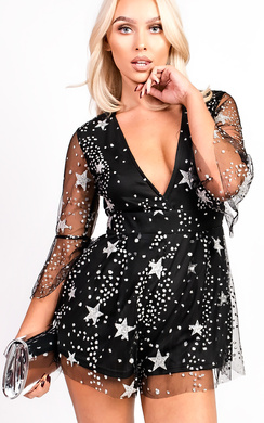 View the Lexie Plunge Sequin Playsuit online at iKrush