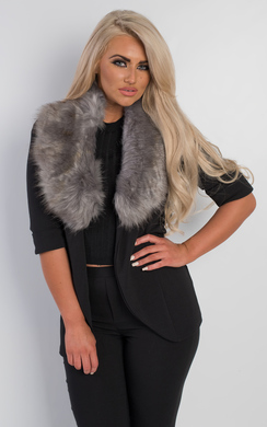 View the Zen Faux Fur Collar Scarf online at iKrush