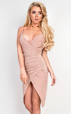 View the Bella Gathered Bodycon Dress  online at iKrush