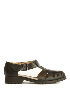 View the Maya Black Buckle Shoes  online at iKrush