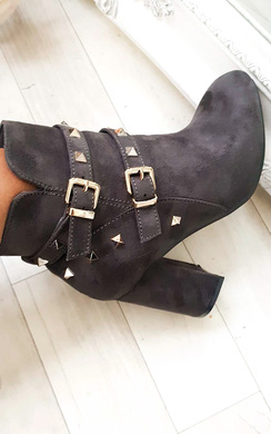 View the Haley Studded Ankle Boots  online at iKrush