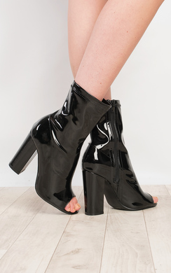 View the Brooke Patent Heeled Ankle Boots online at iKrush