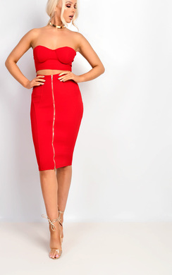 View the Tania Gold Zip Midi Co-ord online at iKrush