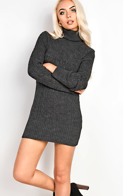 View the Tilly High Neck Knit Dress online at iKrush