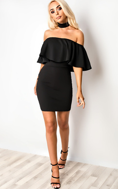 View the Kassidy Choker Neck Bodycon Dress online at iKrush