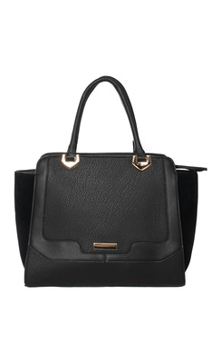 View the Celine Black Faux Leather Tote Bag online at iKrush