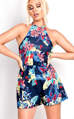 View the Aby Floral Playsuit online at iKrush