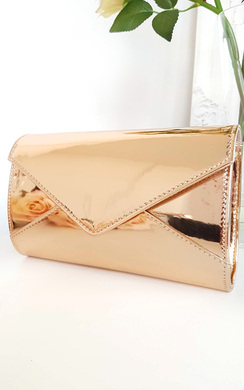View the Amel Metallic Envelope Clutch Bag online at iKrush
