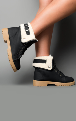View the Halley Faux Shearling Boots online at iKrush