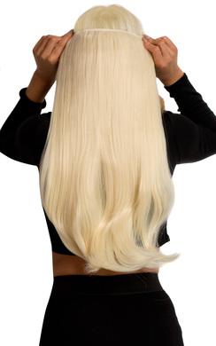 View the Intense Volume Clip In Hair Extensions - Flicky Pure Blonde online at iKrush